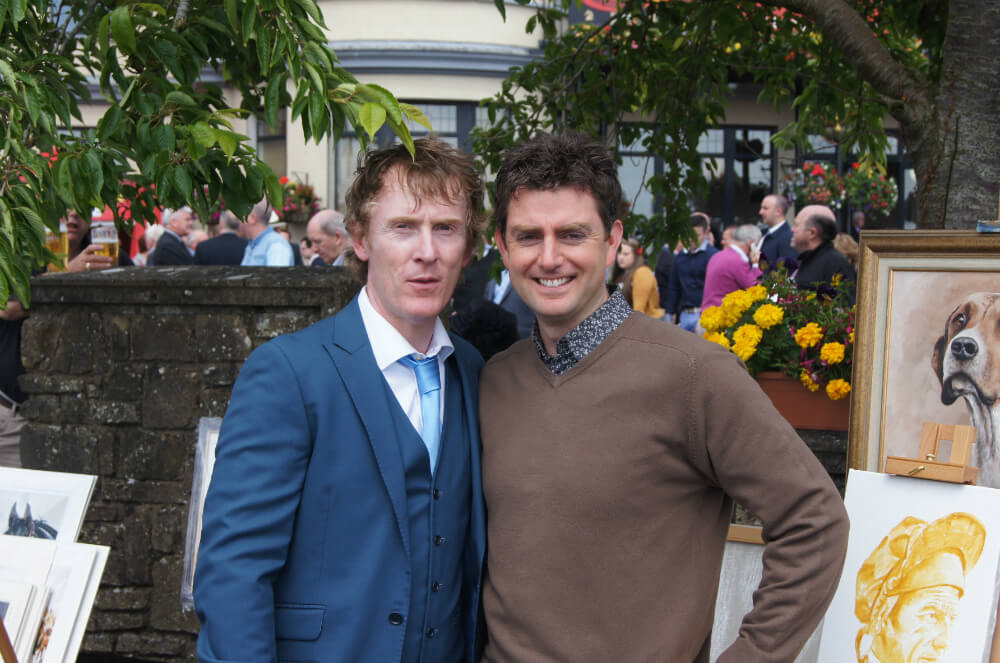 John with fellow Meath man Hector at Derby day 2015